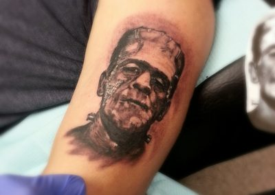 Frankenstein Tattoo by Billy Muren