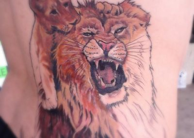 Lion and Cub Tattoo by Billy Muren
