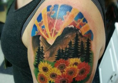 Mountain Tattoo by Billy Muren