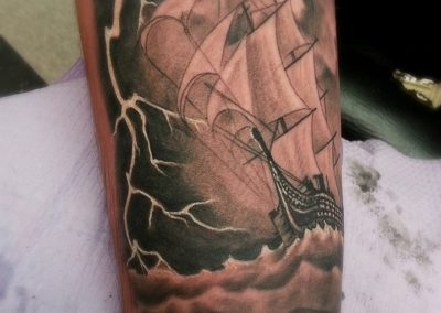 Ship Tattoo by Billy Muren