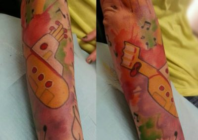 Yellow Submarine Tattoo by Billy Muren